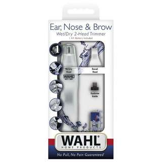 WAHL Trimmer Kit Ear Nose & Brow Wet/Dry 2-Head