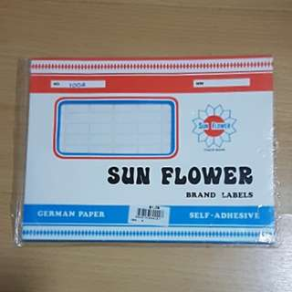 sunflower stickers labels