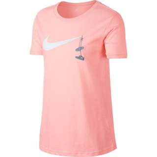 【Footwear Corner 鞋角 】Nike As NSW Tee Swoosh Shoes Pink 白勾刺繡鞋