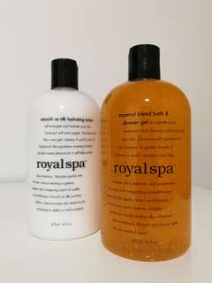 Royal Spa Shower Gel and Moisturizer