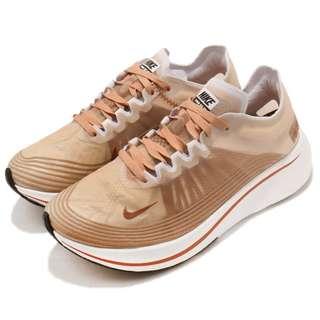 【Footwear Corner 鞋角 】Nike Wmns Zoom Fly SP 粉橘透氣半透明慢跑鞋