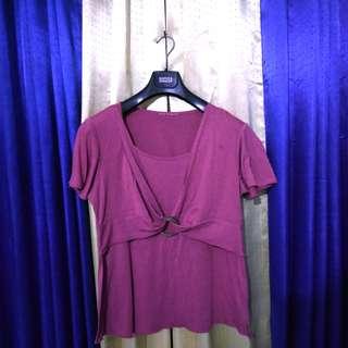 Atasan pink / blouse pink / kaos pink fit to XL