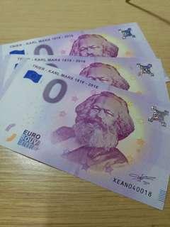馬克思零元紀念鈔票