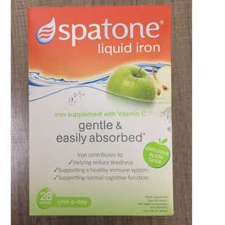 Spatone鐵水 (蘋果味), 28日裝, Spatone liquid iron with Vitamin C (apple taste), 28sachets
