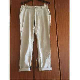 H&M Beige Slim Fit Chinos Trousers
