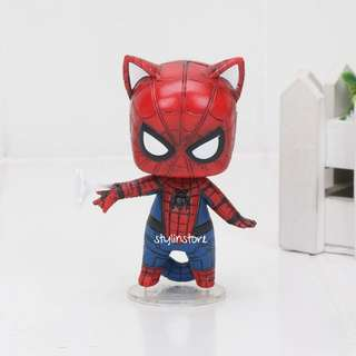Marvel's Spider Man Cat Version Action Figure (Very Detailed and Super Cute like Funko)