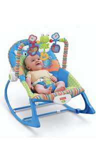 ~Ready Stocked~ Fisher-Price Infant-to-Toddler Rocker, Blue/Orange/Green [USA Exclusive]