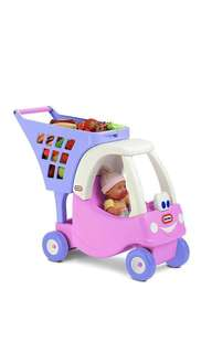 ~Ready Stocked~ Little Tikes Cozy coupe Shopping Push Cart Pink/Purple