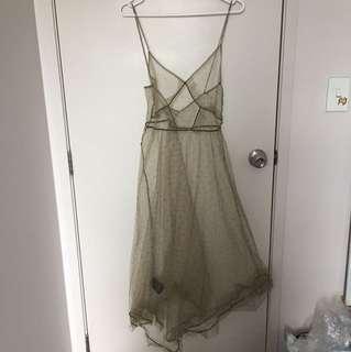 BEAUTIFUL GREEN MESH DRESS