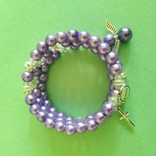Memory Wire Rosary Bracelets