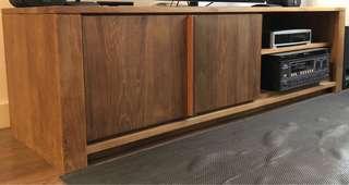TREE Teak Wood Lodge TV Cabinet with 2 doors 柚木實木電視櫃