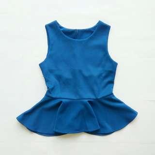 Peplum Top Biru (Baju Atasan) #maudecay