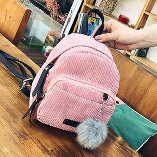 Korean Velvet Mini Backpack