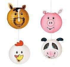 Paper Lanterns (Farm Animals)