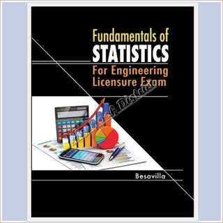 Fundamentals of Statistics for Engineering Licensure exam