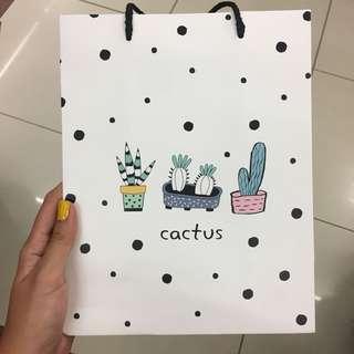 Cactus medium paperbag