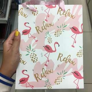 Paperbag summer flamingo