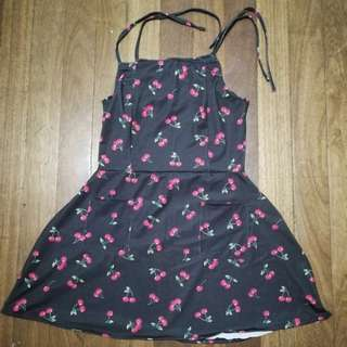 A-Line fitted Cherry Dress