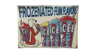 BN ICEE polar bear reprint tin metal signage 23.5x33cm