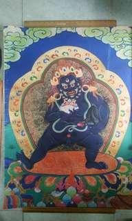 西藏不知年老唐卡