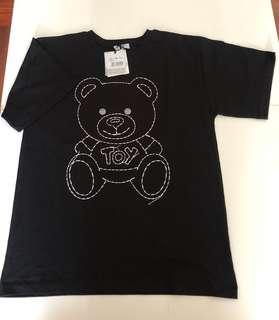 (黑白兩色) Moschino 車線熊仔 T-shirt