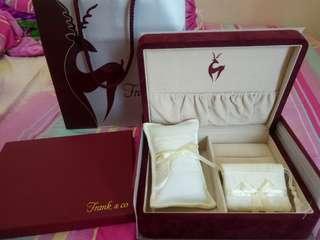 Frank n Co Box Full Set / Kotak Seserahan / Lamaran / Tunangan / Cincin / Perhiasan