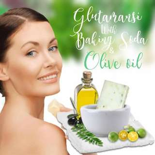 Glutamansi with baking soda and olive oil