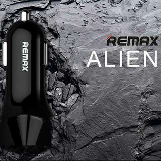 REMAX Quick Car Charger LED Voltage  Charge 2 Device Simultaneously LED Voltage Display