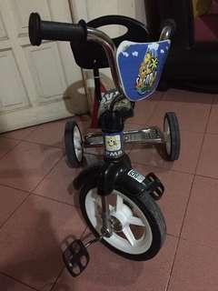 Sepeda safari anak minus roda bisa dikencengin
