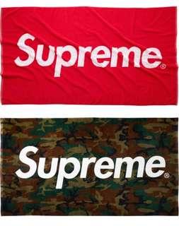 Supreme Red & Camo Beach Towel S/S 2013 Rare Box Logo