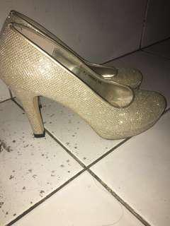 gold party high heels