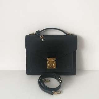 Authentic Louis Vuitton Monceau Black