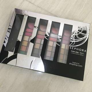 FLASH SALE !!! Sephora Make Up Palette 5 in 1 (Make Up Wanita) BRAND NEW