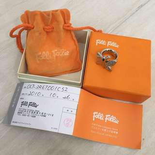 FLASH SALE !!!! Folli Follie Butterfly Diamond Ring (Cincin Wanita) (Woman Ring) 100% Authentic (Branded) REPRICE FOR FAST SALE!!!!