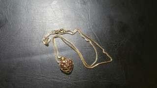 (市$288)精美頸鏈一條 鍊咀有一些碎石配搭