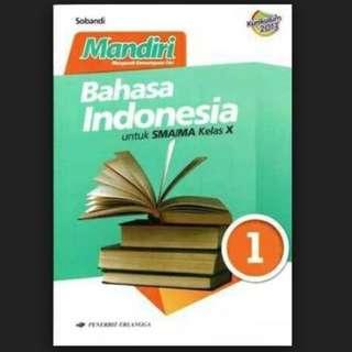 [MURAH] Mandiri Bahasa Indonesia SMA/MA Kelas X Kurikulum 2013