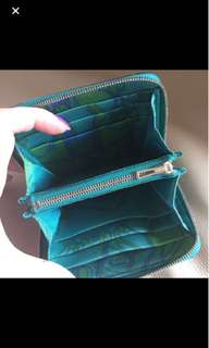 Hermes silk in mini Blue Paon