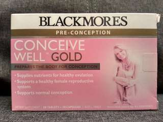 Blackmores Pre-Conception Conceive Well GOLD - 28 Tablets + 28 Capsules