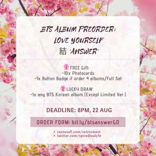 [PREORDER GO] BTS ALBUM LOVE YOURSELF 結 'ANSWER'