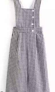BRAND NEW CHECKED JUMPSUIT