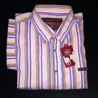 Bnwt Marlboro Classics stripe Shirt plus size
