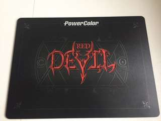 Red Devil Mousepad Hard surface type Powercolor brand