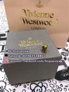 (現貨4隻)購自英國 Vivienne Westwood BLAKE 合金 迷你 牙齒 土星 耳環 (保証正貨及全新) 金色- 價格為一隻