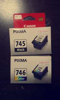 Cannon printer ink (745 black and 746 color)