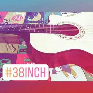 NEW【ACOUSTIC GUITAR】加附Fender民謠吉他弦送【智能溫度濕度時鐘】