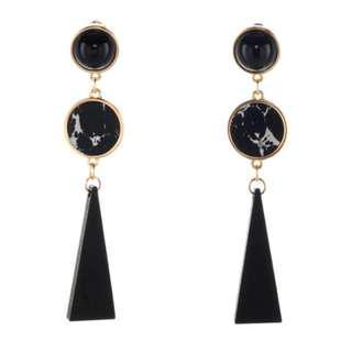 🌸(Instock) Bohemian Marble Wood Element Earrings
