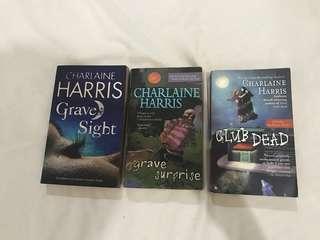 Lot of 3 books: Grave Sight Grave Surprise Club Dead by Charlaine Harris