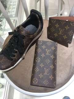 shoes & wallet LV men