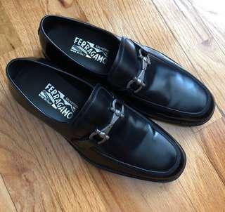 [型男必備] 意大利🇮🇹 Salvatore Ferragamo 真皮皮鞋 Size 255mm
