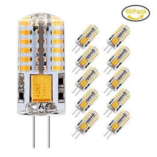 G4 LED Bulbs, Jpodream 3.5W 48 x 3014 SMD LED Energy Saving Bulbs Warm White 3000K, 300LM, 30W Halogen Bulbs Equivalent, AC / DC 12V LED Lamps - 10 Pack